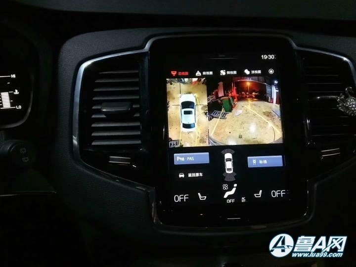 沃尔沃xc90安装360全景影像系统,清晰夜视效果也很好