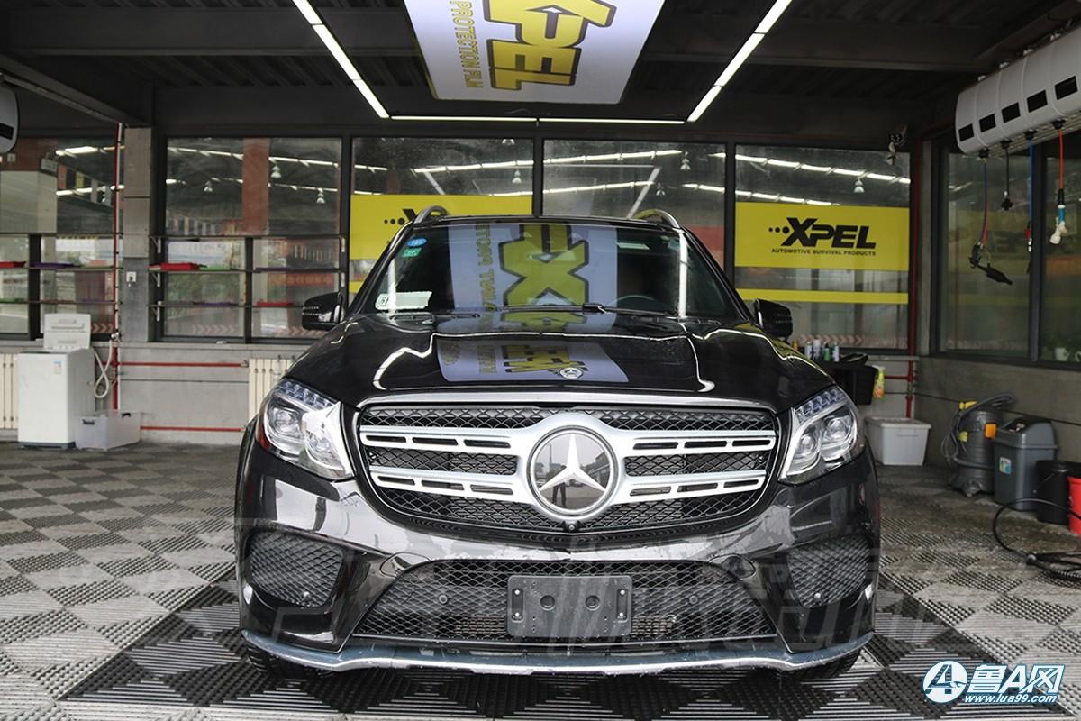 奔驰GLS450装贴XPEL隐形车衣,极致细节打造完美效果