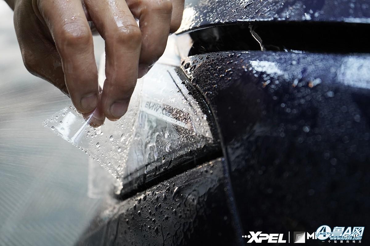 宝马740装贴XPEL隐形车衣,膜库专业汽车贴膜服务