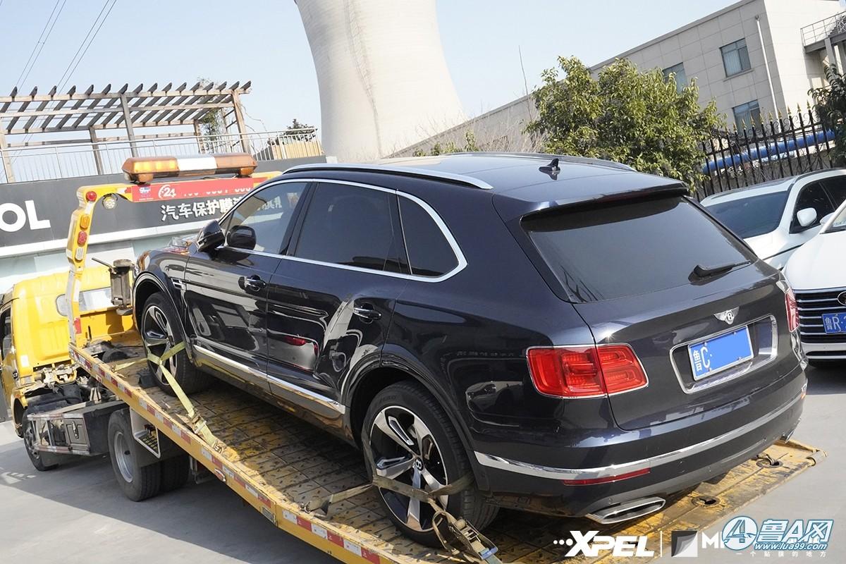 宾利添越装贴XPEL-MPD隐形车衣,当家旗舰更适合豪车