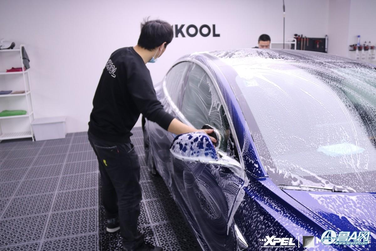 特斯拉model装贴XPEL隐形车衣,整车更闪耀