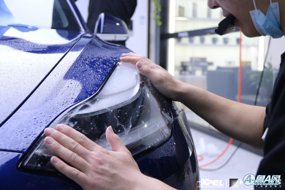 特斯拉model装贴XPEL隐形车衣