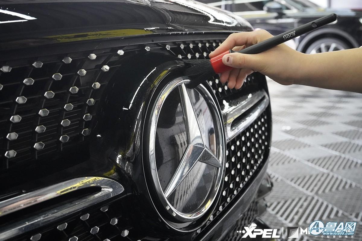 奔驰GLE450装贴XPEL隐形车衣,济南膜库专注贴车衣17年