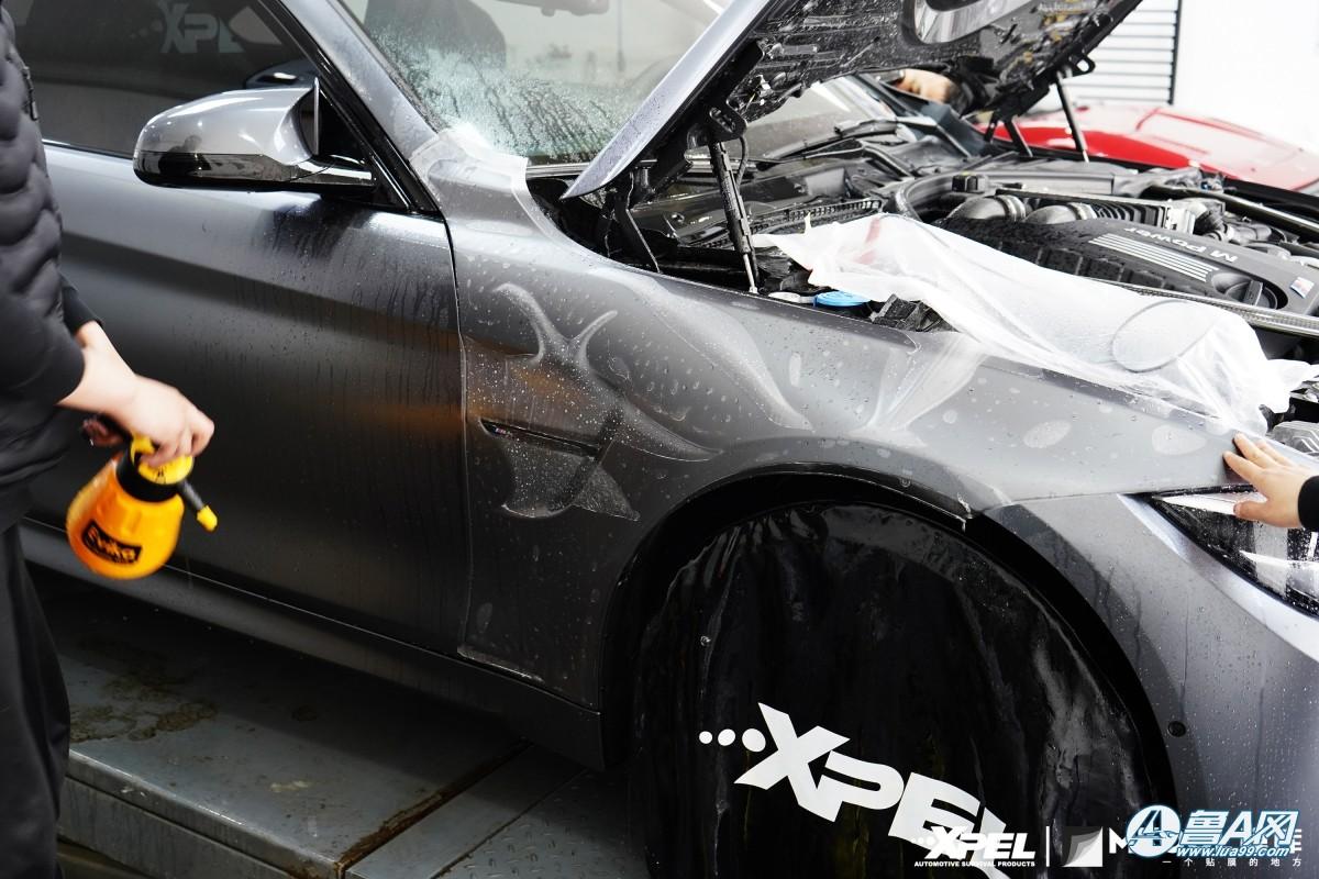 宝马M4装贴XPEL哑光车衣,赛道灵魂-传奇不灭